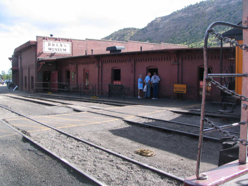rear wall of the Durango roundhouse