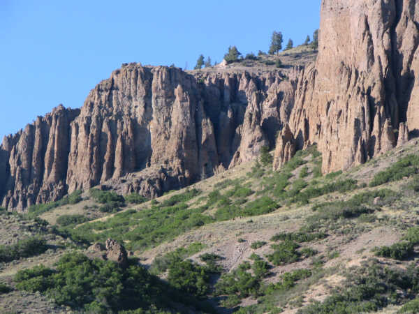 the scenic pinicles near Gunnison