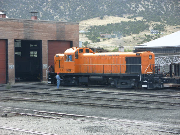 Northern Nevada RR, No 109 prepares to take the afternoon train out.
