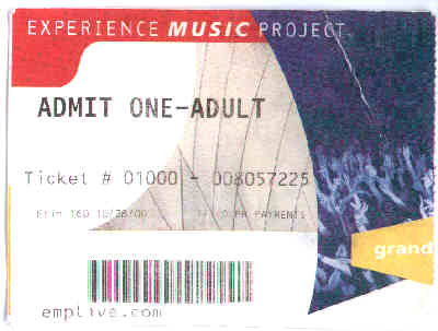 Experience Music Project ticket